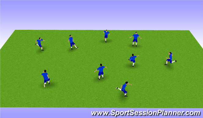 Football/Soccer Session Plan Drill (Colour): Soccer play movements