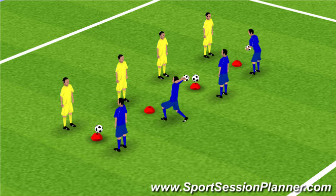 Football/Soccer Session Plan Drill (Colour): Reaction Game