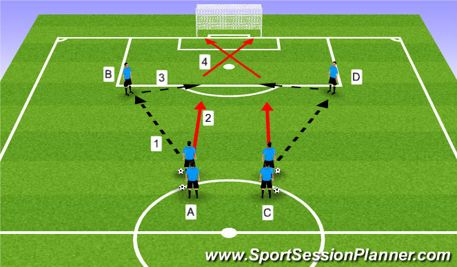 Football/Soccer Session Plan Drill (Colour): Drill - pre-game warm-up
