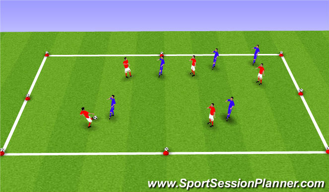 Football/Soccer Session Plan Drill (Colour): 8-Ball