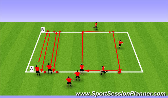 Football/Soccer Session Plan Drill (Colour): Step 4 Interval