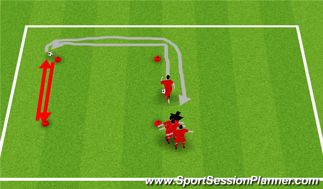 Football/Soccer Session Plan Drill (Colour): Square Challenge