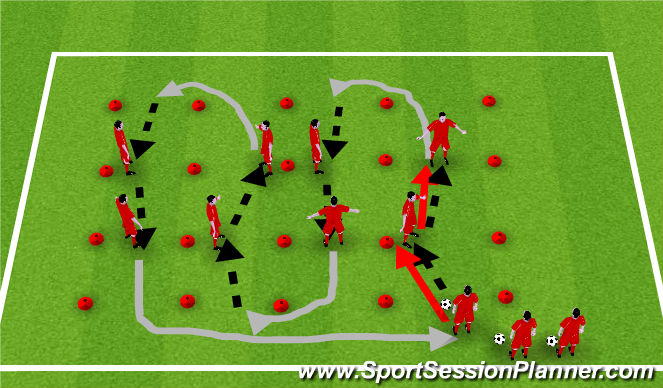 Football/Soccer Session Plan Drill (Colour): Stamina Training