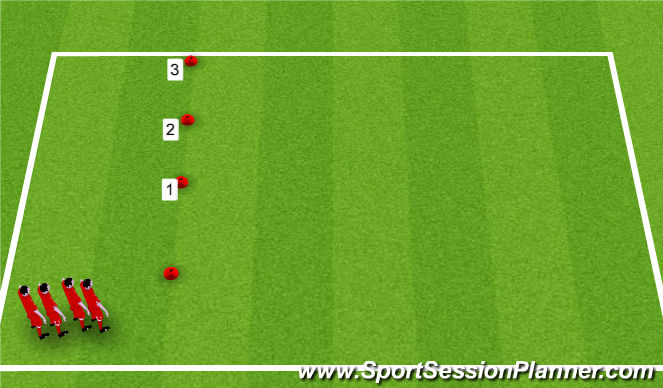 Football/Soccer Session Plan Drill (Colour): Speed and Change of Direction