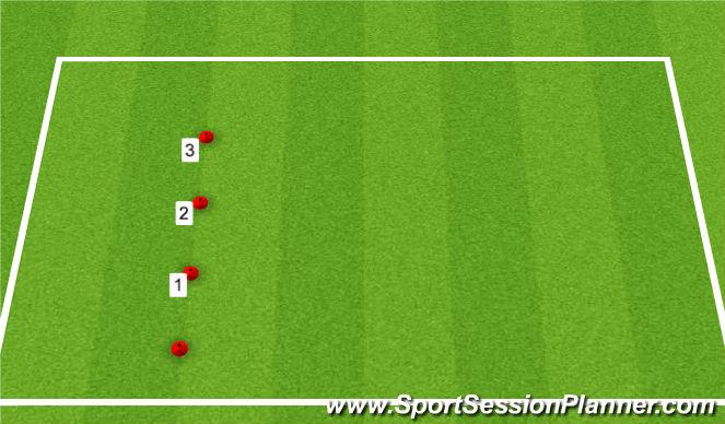 Football/Soccer Session Plan Drill (Colour): Varied Shuttle Run