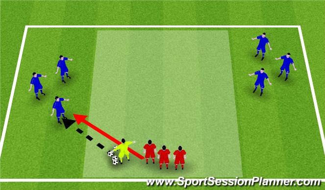 Football/Soccer Session Plan Drill (Colour): Stamina training