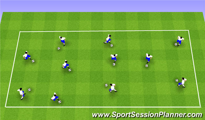 Football/Soccer Session Plan Drill (Colour): Skill Intro 1