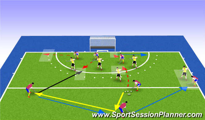 Hockey Session Plan Drill (Colour): long