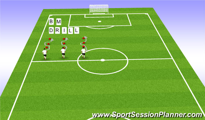 Football/Soccer Session Plan Drill (Colour): BM drill