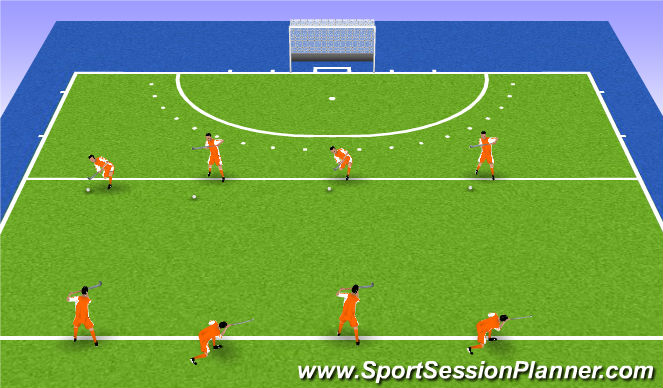 Hockey Session Plan Drill (Colour): Overhead Technique