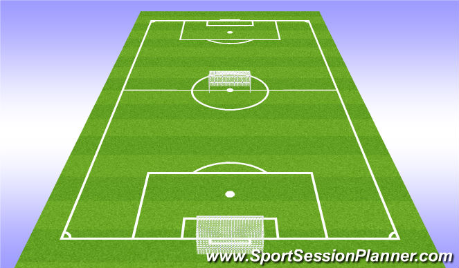 Football/Soccer Session Plan Drill (Colour): 9v9 to big goals