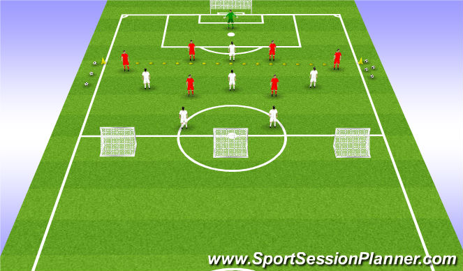 Football/Soccer Session Plan Drill (Colour): Expanded SSG