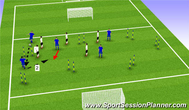 Football/Soccer Session Plan Drill (Colour): seem drill