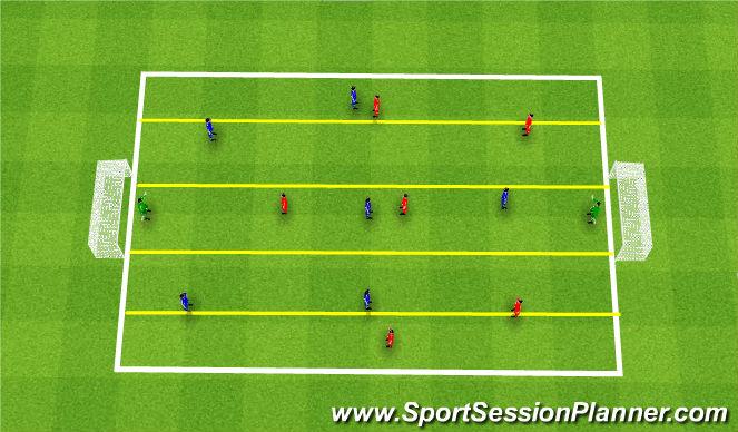 Football/Soccer Session Plan Drill (Colour): SSG - Defensive Teamwork