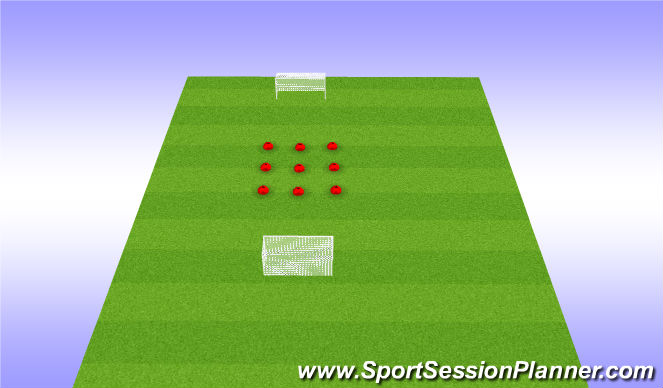 Football/Soccer Session Plan Drill (Colour): Juego calentamiento