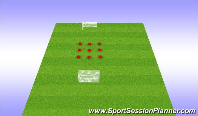 Fútbol Ejercicio del Plan de Sesiones (Color): Juego calentamiento