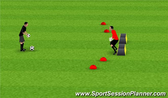 Fútbol Ejercicio del Plan de Sesiones (Color): Pantalla 6