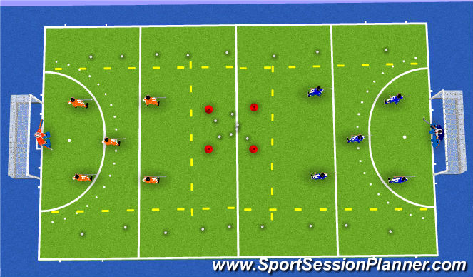 Hockey Session Plan Drill (Colour): Conditioning game