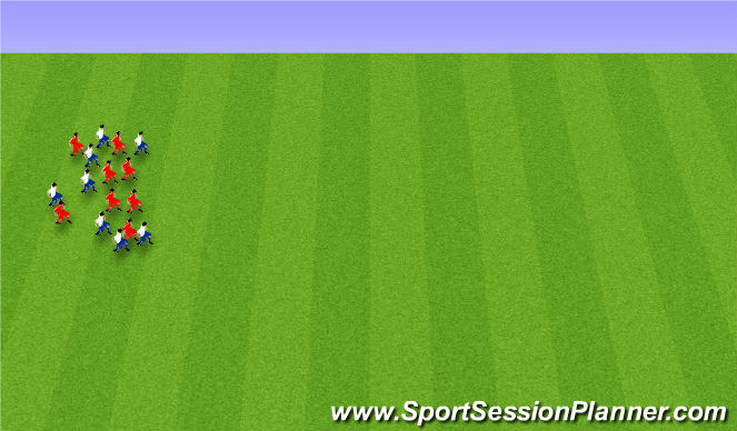 Football/Soccer Session Plan Drill (Colour): Endurheimt.