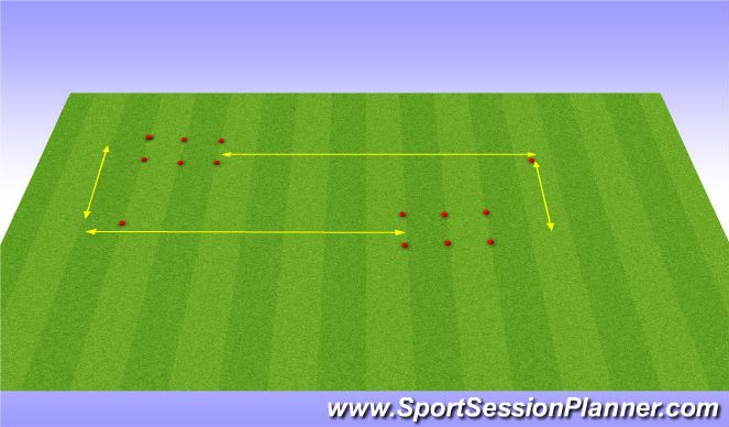 Football/Soccer Session Plan Drill (Colour): Running/Stretching