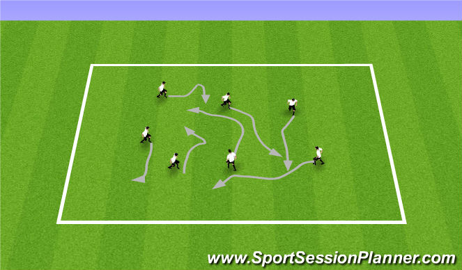 Football/Soccer Session Plan Drill (Colour): Warm up skills