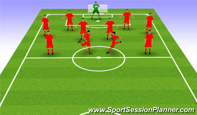 Football/Soccer Session Plan Drill (Colour): Position A