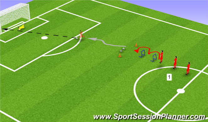 Football/Soccer Session Plan Drill (Colour): Line 1