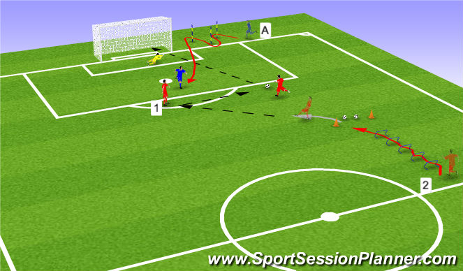Football/Soccer Session Plan Drill (Colour): Line 2
