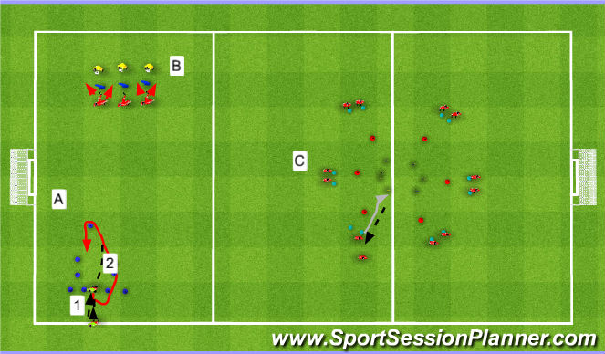Football/Soccer Session Plan Drill (Colour): Individual Technical