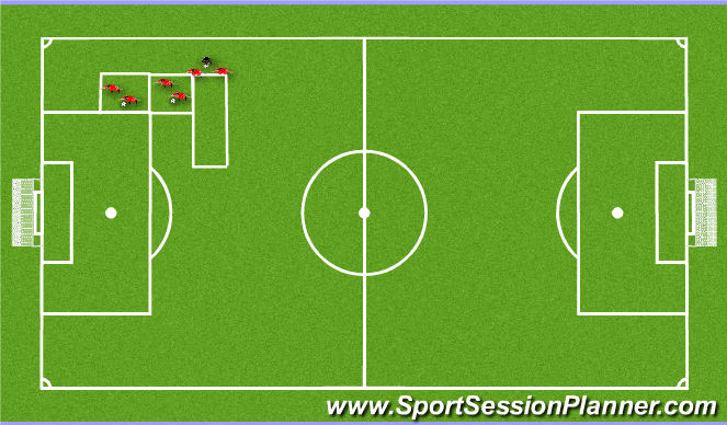 Football/Soccer Session Plan Drill (Colour): Shielding