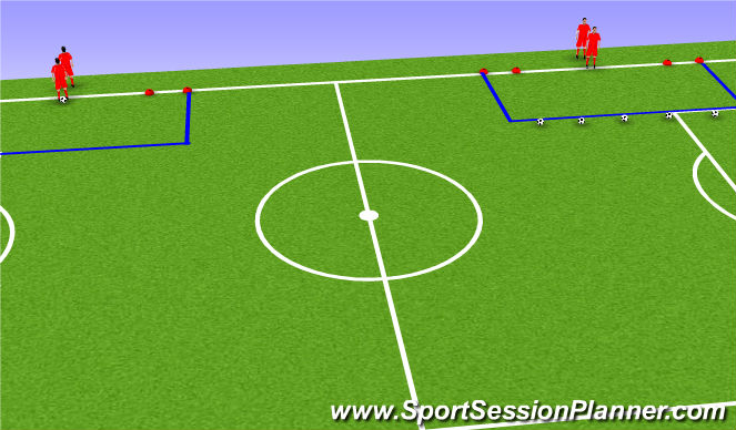 Football/Soccer Session Plan Drill (Colour): Escaping