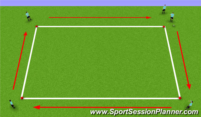 Football/Soccer Session Plan Drill (Colour): Technical Practice
