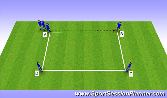 Football/Soccer Session Plan Drill (Colour): Drill - Playing to Feet