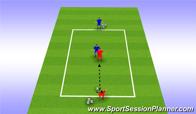 Football/Soccer Session Plan Drill (Colour): Drill - Screening the Ball