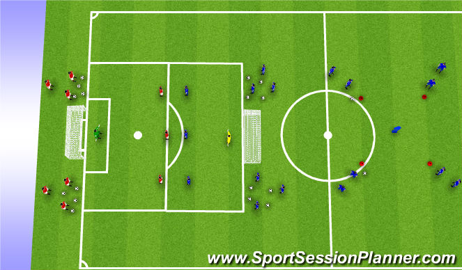 Football/Soccer Session Plan Drill (Colour): Expanded Small-Sided