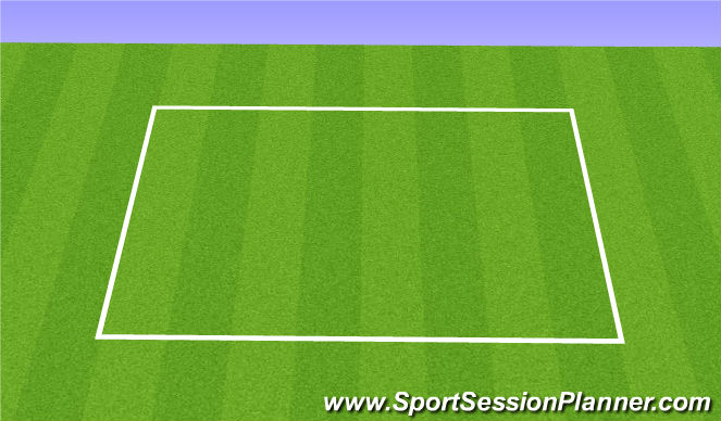 Football/Soccer Session Plan Drill (Colour): U12's