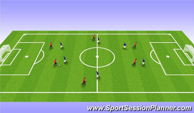 Football/Soccer Session Plan Drill (Colour): Pine Glen Week 6 ODP U6-U8 7:00-8:00am