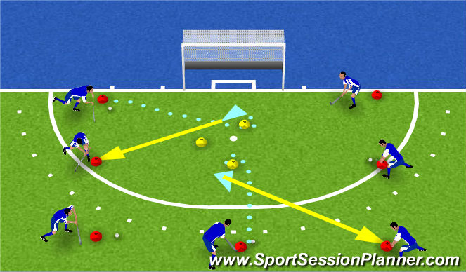 Hockey Session Plan Drill (Colour): namen noemen