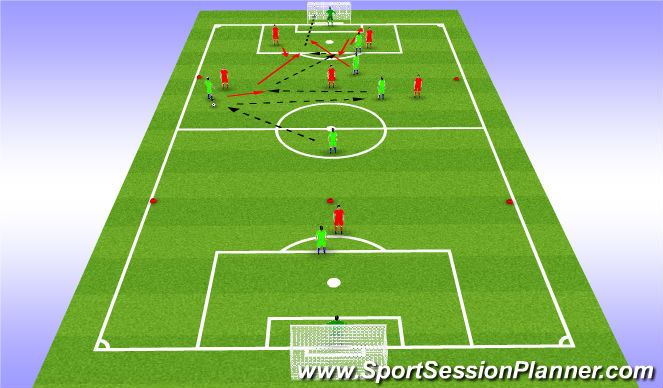 Football/Soccer Session Plan Drill (Colour): Pass and Move Positional Game Play