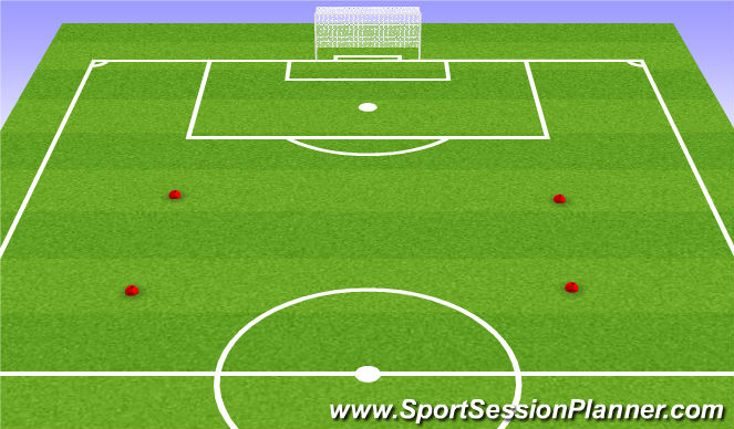 Football/Soccer Session Plan Drill (Colour): 5v5+5