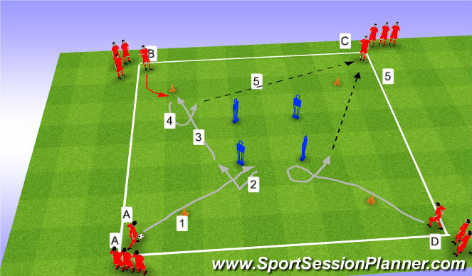 Football/Soccer Session Plan Drill (Colour): ISP 23 C/Box