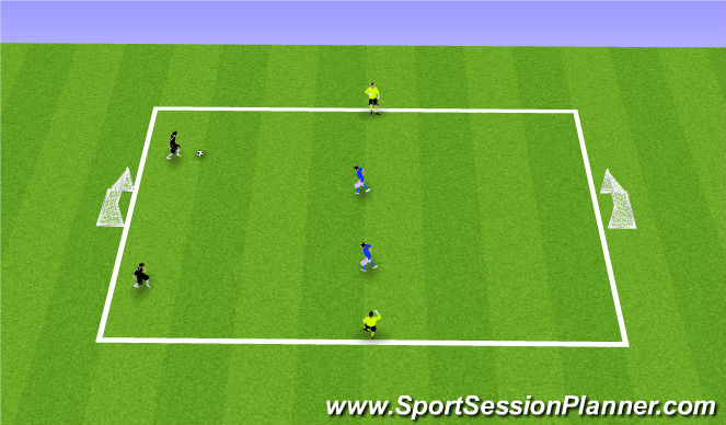 Football/Soccer Session Plan Drill (Colour): 2v2+2N