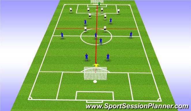 Football/Soccer Session Plan Drill (Colour): 8v8: 4 Grid