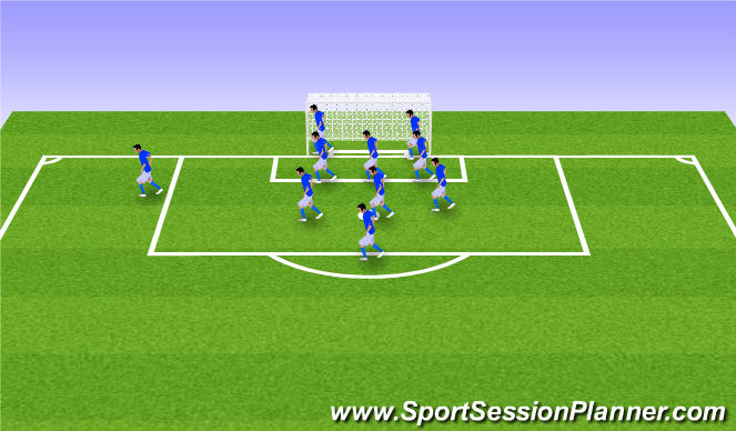 Football/Soccer Session Plan Drill (Colour): Defensive Corners & Set Pieces