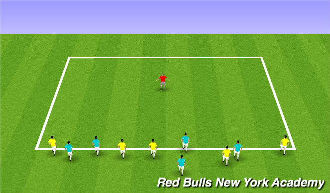 Football/Soccer Session Plan Drill (Colour): Watch out for Randall!