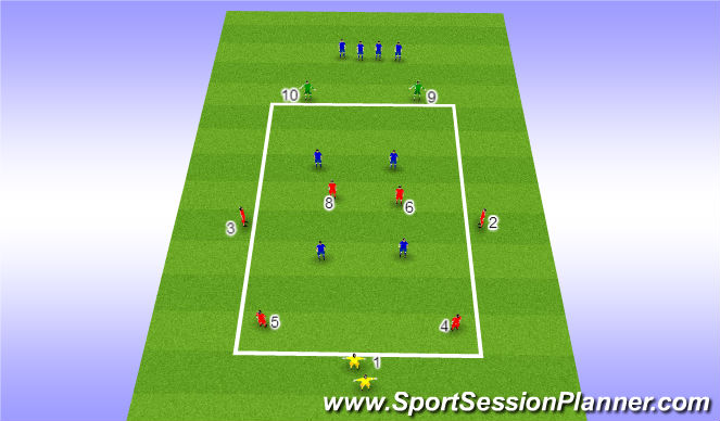 Football/Soccer Session Plan Drill (Colour): Positional Possession Drill