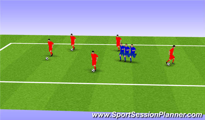 Football/Soccer Session Plan Drill (Colour): Chain Gang Game