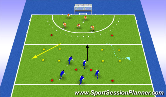 Hockey Session Plan Drill (Colour): square game