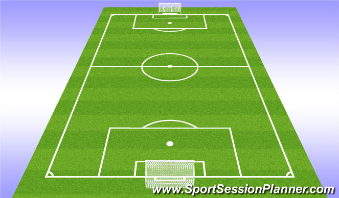 Football/Soccer Session Plan Drill (Colour): Play 7v7