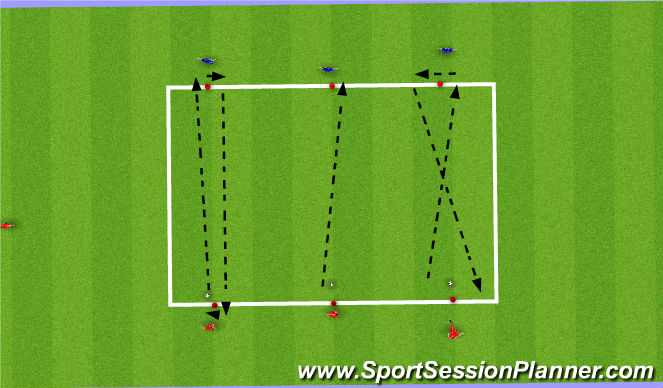 Football/Soccer Session Plan Drill (Colour): simple pass 1